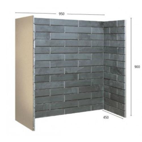 Porcelain Brickbond Slate Chamber
